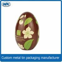 Egg roll shape chocolate christmas tin gift metal tin box