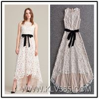 New Fashion Women Lady Long Lace Party Prom Dress