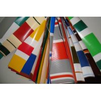 PVC stripe printed tarpaulin