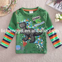 Nova child garment wholesale boy animal winter tee