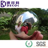 Mirror Stainless Steel Ball 200mm 350mm 500mm Hollow 304 316 Steel Sphere