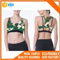 Lycra Sportwear Brazilian Fitness Yoga Wear Sports Bra