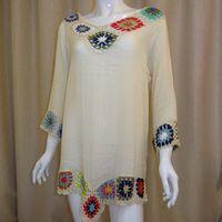 A1210 hot sale model mix color flower crochet beach wear for women/girls thumbnail image
