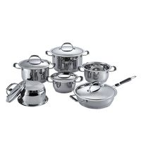12 pcs wide edge stainless steel pot