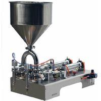 Small Semi-auto Paste Double Heads Bottle Liquid Filling Machine for Shampoo,Oil,Juice thumbnail image
