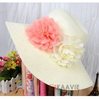 2016 Hot Style Panama Flower Straw Hat / Children Straw Hat