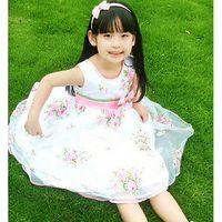 new Princess white dress for children girls thumbnail image