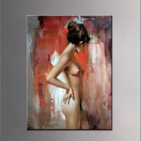 100%hand-painted impressionist  one piece woman naked Oil painting on canvas N016