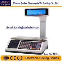 15/30kg Electronic Receipt Printing Scale, Supermarket Retail Pricing POS Counting Weighing Scales thumbnail image