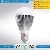 Dimmable High Lumen Hot Sale E27 E14 5W LED Bulb Light, LED Light bulb AC85-265V