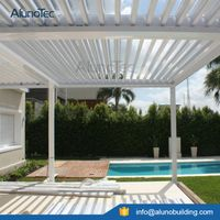 Waterproof Aluminium Pergolas Designs with LED Light