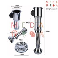 low noise kitchen bbq range hood, korean bbq exhaust with led lighting