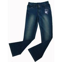 Knitted pants---Indigo french terry