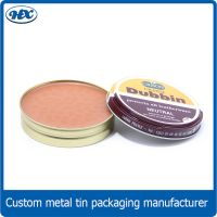 Shoe polish metal tin box
