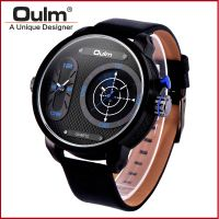 Oulm dual time zone wrist watch, hotsale men watch