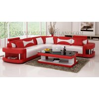 Contemporary Leather Sectional Sofa Set