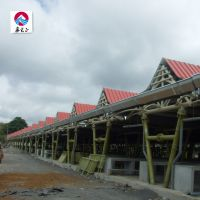 Chinese easy install prefabricated steel structure pipe truss workshop thumbnail image