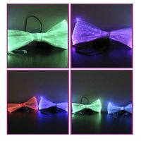 The light up luminous fiber optic LED 2016 fashion bow tie