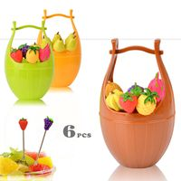 cartoon stainless steel fruit fork set/Fashion cute fruit toothpick/8 installed/Salad fork/Small ani
