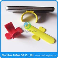 multi-function giveaway item mini touch u silicone snap stand for mobile phone