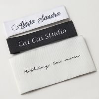 WVN015 woven labels,woven badges, woven patche size, sizing labels thumbnail image
