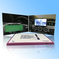 2.8/4.3/5/7/10 inch video greeting card lcd video brochure card for advertising promotion invitation