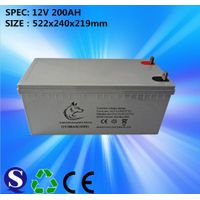 12V 200ah sealed lead acid battery for solar system