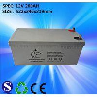 12V 200ah sealed lead acid battery for solar system
