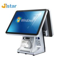 Industrial production J1900 motherboard capacitive touch screen billing POS machine led display cash