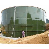 glass to steel bolted sewage treatment in CSTR reactor