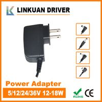 12V AC/DC adapter 15W slim body with TUV,CE certificate for desk lamp PS011