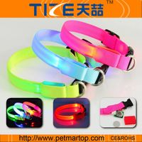 china pet collar glowing pet products TZ-PET2110 led flashing pet collar