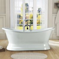 pedestal cast iron bathtub