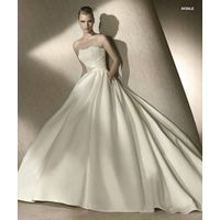 Goingwedding Strapless Lace Satin Puffy Skirt Ball Gown Plus Size Wedding Gowns and Bridal Dress 201