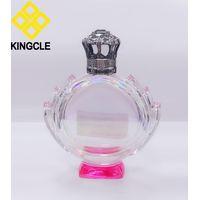 100ml empty perfume glass bottle with metal cap