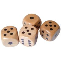 wooden dice, game dice, natural wood dice