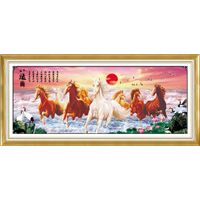 Eight Horses 3D cross stitch