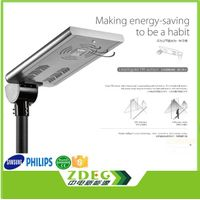 all in one integrated lifepo4 battery solar panel led street light lamp with motion sensor