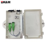 2 port fiber optic plastic pc/abs fiber termination box with SC APC Connector