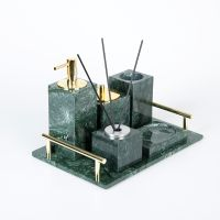 Green marble Bathroom Accessories Set Bath Decor thumbnail image