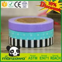 Manzawa colorful custom make washi tape,custom printed washi tape