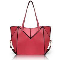 Alibaba wholesale fashion design PU leather foldable lady handbag foldable tote shopping bag thumbnail image