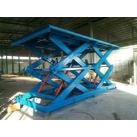 fixed hydraulic scissor lift cargo lift