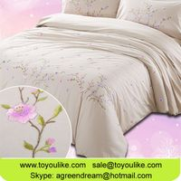 Luxury Handmade Embroidered Bedding Duvet Cover Bed Sheet Pillowcase 4pcs Set thumbnail image