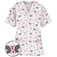 Printed Scrub Tops for Men and Women