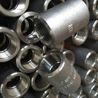 Forged NPT screw galvanized a 105 coupling