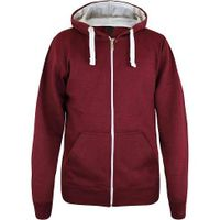 Men's plain fleece hoodie with full zipper