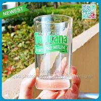 Juice glass cup wholesale medium capacity drinking glass cup special use in christamas wedding