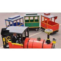 fiberglass trackless train