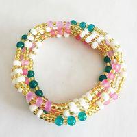 2021 new summer sexy bikini waist chain vintage Bohemian jewelry pop multi-color elastic waist beads thumbnail image
